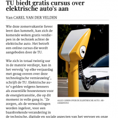 MOOC Electric cars featured on AD.nl